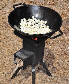 Wok cooking with a Deadwood Stove